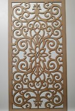 Radiator Cabinet Decorative Screening Perforated 3mm & 6mm thick MDF laser cutG1