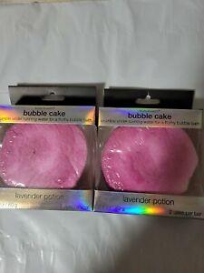 2X Body & Earth Bubble Cake, Lavander Potion Bubble Bath, 2.8 oz, NEW