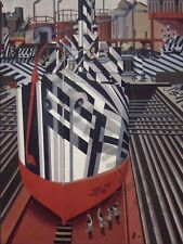 Wadsworth Dazzle-Ships Liverpool Drydock Art Print Poster Hp3940