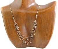 Women's Dangle Necklace 14k SOLID Yellow, White & Rose Gold