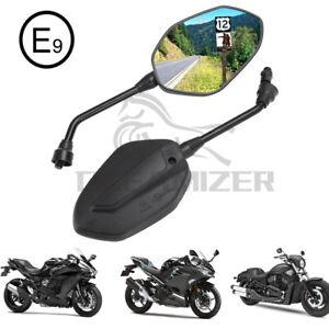 ATV Motorrad Spiegel Rückspiegel E-geprüft M8 M10 Universal Motorradspiegel Paar