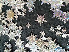 10 grams HOLOGRAPHIC SILVER CONFETTI STARS - 2 Sizes