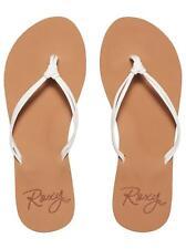 ROXY Lahaina III Flip Flops in White UK 8