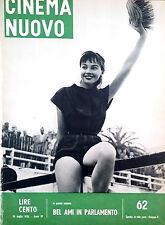 CINEMA NUOVO. FASCICOLI RILEGATI DAL 10- LUGLIO 1955 AL 25 GIUGNO 1956