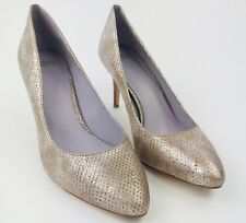Johnston & Murphy Women's Pearlescent Snake Print Pointed Toe Pump Heel Sz 10M