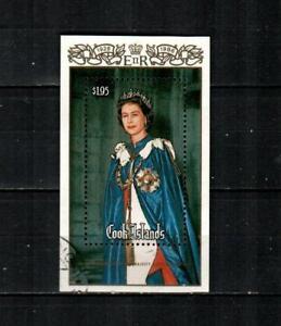 COOK ISLANDS Scott's 908 ( S/S ) Queen Elizabrth II F/VF Used ( 1986 ) #2