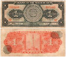 Mexico 1 Peso P#59c Serie HA (1957) Banco de México S.A. Fine