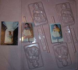 CHRISTENING OR BAPTISM CHOCOLATE MOULD OR CHOCOLATE LOLLIPOP MOULD