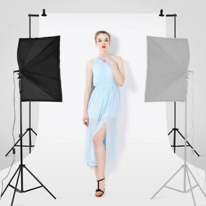 STUDIO FOTOGRAFICO ILLUMINAZIONE SET LAMPADA FLASH KIT SOFTBOX STATIVO