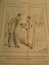 Caricature 1884 - Nouveau Bonbon pour les Etrennes Le Crédit Tonkinois