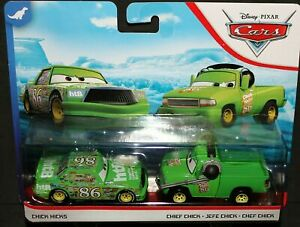 CARS - CHICK HICKS & CHIEF CHICK - Mattel Disney Pixar