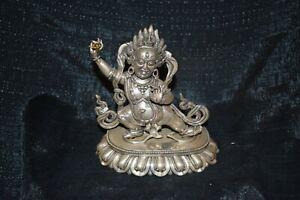 Silberfigur,Tibet,2-teilig, Mahakala/Totenköpfe/Nagas/Varja, Silber(925) massiv,