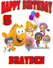 New Personalized Bubble Guppies t shirt Birthday gift Add Name & Age