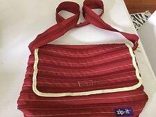 Large Zip-It Bag in red Color (yellow trim)