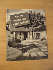 "Vtg 1941 Portland Cement Advertising~""Concret e Improvements Around the Home"""