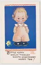 Artist postcard - Little Happy Smilin' Through by Mabel Lucie Attwell - No. 5208
