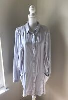 Free People Shirt Dress Button Up Womens Size Small Light Blue NWOT Pockets