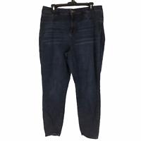 Refuge Womens Blue Stretch Dark Wash Skinny Denim Jeans Size 16