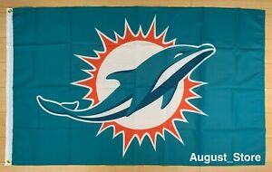 Miami Dolphins 3x5 ft Flag Banner NFL