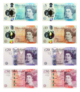 Edible money British Pounds cupcake topper GBP banknote high quality icing wafer