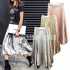 Polyester Hand-wash Only Long Solid Skirts for Women
