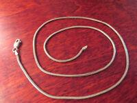 Hübsche 925 Silber Kette Schlangekette Filigran Elegant Designer Fein Modern Top