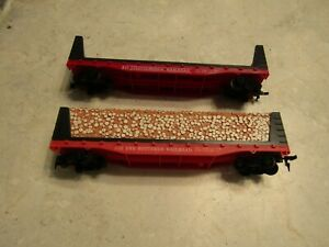 HO-Set of 2 Freight Cars - Pulp Carriers- The Southern RR. Used
