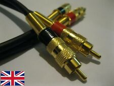 50cm 0.5m Stereo Fono RCA Cavo di interconnessione. alta qualità, made in UK.