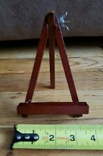 Small Vintage Supporting Wood Frame Picture Stand Easel Display Brown Wedding4X6