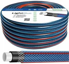 More details for 50m heavy duty garden hose pipe reinforced braided pvc watering hosepipe 1/2 3/4