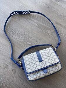 Valore London Box Shoulder bag White/blue Leather goyard bag made in italy £990
