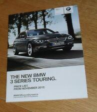 BMW Série 3 Touring F31 liste de prix 2012 M Sport Luxe 330d 320d 318d 328i 320i