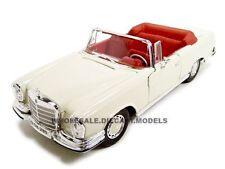 1967 MERCEDES 280 SE CONVERTIBLE CREAM 1/18 DIECAST CAR MODEL BY MAISTO 31811