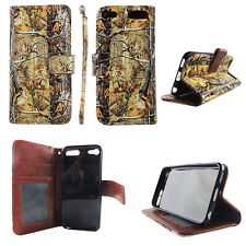 Flip Wallet Case Tree Camouflage for ipod touch 5 6 Gen Cash id Slot Stand Cover