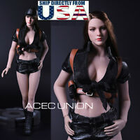 "1/6 Women Tactical Outfits Set For 12"" Phicen Hot Toys Female Figure U.S.A."