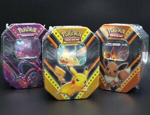 Pokemon Tin Box Pikachu Eevee Eternatus Evoli Endynalos V Booster Set Englisch