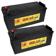 2x HR AGM Solar Batterie 12V 300Ah 24V 150Ah Wohnmobil Versorgung Solar Boot