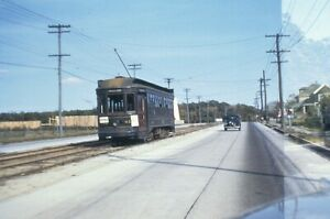Trolley Slide - Union Street Railway #412 Streetcar New Bedford MA 1940s Vintage