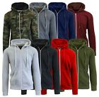Mens Fleece Hoodie Jacket Sweater Layering Zip Up & Pullover & Sherpa - S-XXL