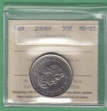 1989 Canadian 50 Cents Coin - ICCS Graded MS-65