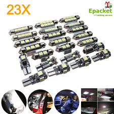 23x Car LED Inside Light Kit Dome Trunk Mirror License Plate Lamp White Bulbs US