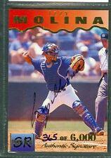 Izzy Molina Baseball Auto 1995 Signature Rookies '95 Autograph Signed Card #23