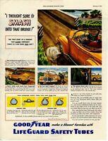 1947 ORIGINAL VINTAGE GOODYEAR TIRE MAGAZINE AD