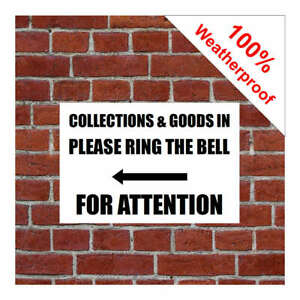 Collections and goods in ring bell with left arrow sign 5560BKW Warehouse Goods
