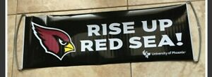 Arizona Cardinals Rise Up Red Sea Banner Sign NEW NFL Official Game Retractable