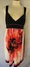 JODI KRISTOPHER Sleeveless Built-in-Bra Floral Tie Back Shift Dress size L