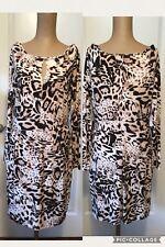 NEW! Jennifer Lopez Dress Size Large Animal Print Fully Lined Long Sleeves NWT!