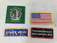 Lot of 4 Patch collection  American Flag - Bar and Two saying Redneck women
