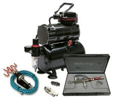 PISTON COMPRESSOR WITH 3 LITRE TANK & HARDER & STEENBECK INFINITY SOLO AIRBRUSH