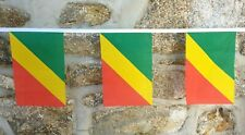 Congo Brazzaville Flag Polyester Bunting - Various Lengths